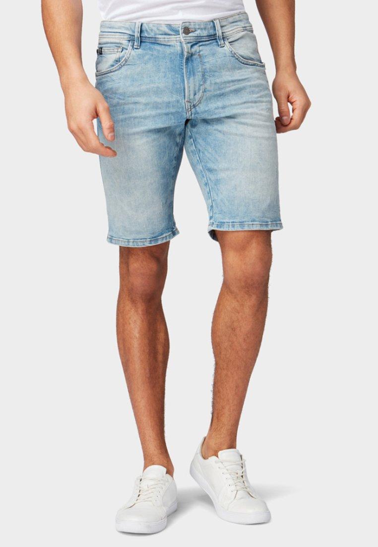 TOM TAILOR DENIM - Denim shorts - bleached blue