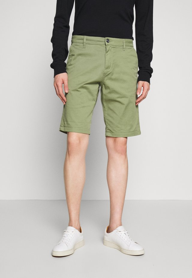 CHINO SHORTS - Kraťasy - greyish green