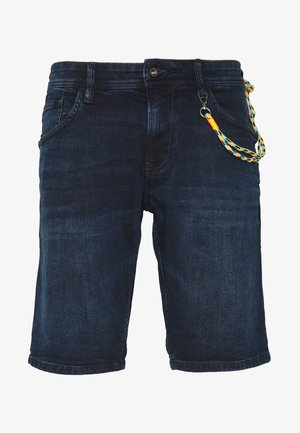 REGULAR FIT - Szorty jeansowe - blue/black denim