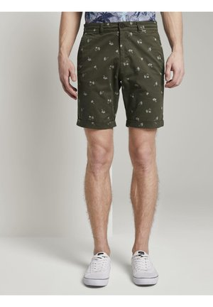 Shorts - green palm print
