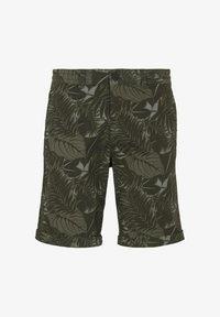 khaki tropical leaves print