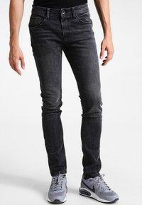 TOM TAILOR DENIM - CULVER  - Slim fit jeans - dark stone black denim - 0