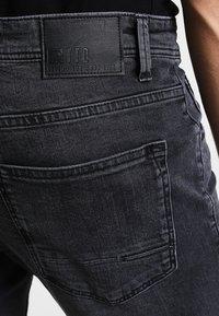TOM TAILOR DENIM - CULVER  - Slim fit jeans - dark stone black denim - 4