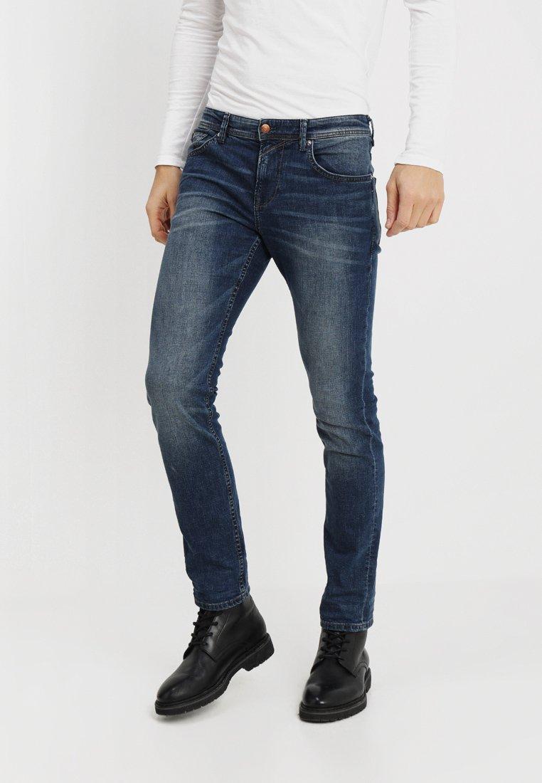 TOM TAILOR DENIM - SLIM AEDAN - Slim fit jeans - mid stone wash denim