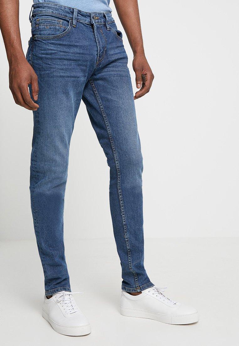 TOM TAILOR DENIM - CULVER PRICESTARTER - Jeans Skinny Fit - used mid stone blue denim