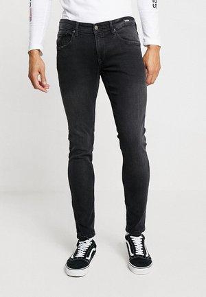 CULVER STRETCH - Jeans Skinny - used dark stone black/denim grey
