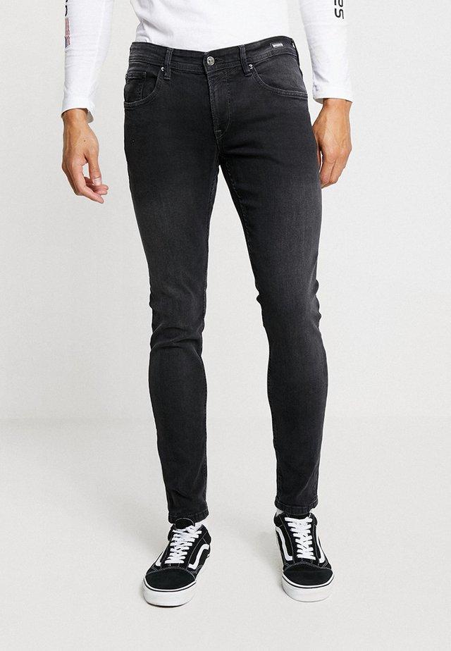 CULVER STRETCH - Skinny džíny - used dark stone black/denim grey