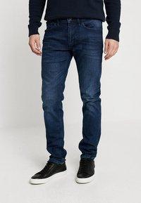 TOM TAILOR DENIM - PIERS PRICESTARTER - Jeans Slim Fit - used dark stone/blue denim - 0