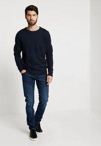 TOM TAILOR DENIM - PIERS PRICESTARTER - Jeans Slim Fit - used dark stone/blue denim - 1