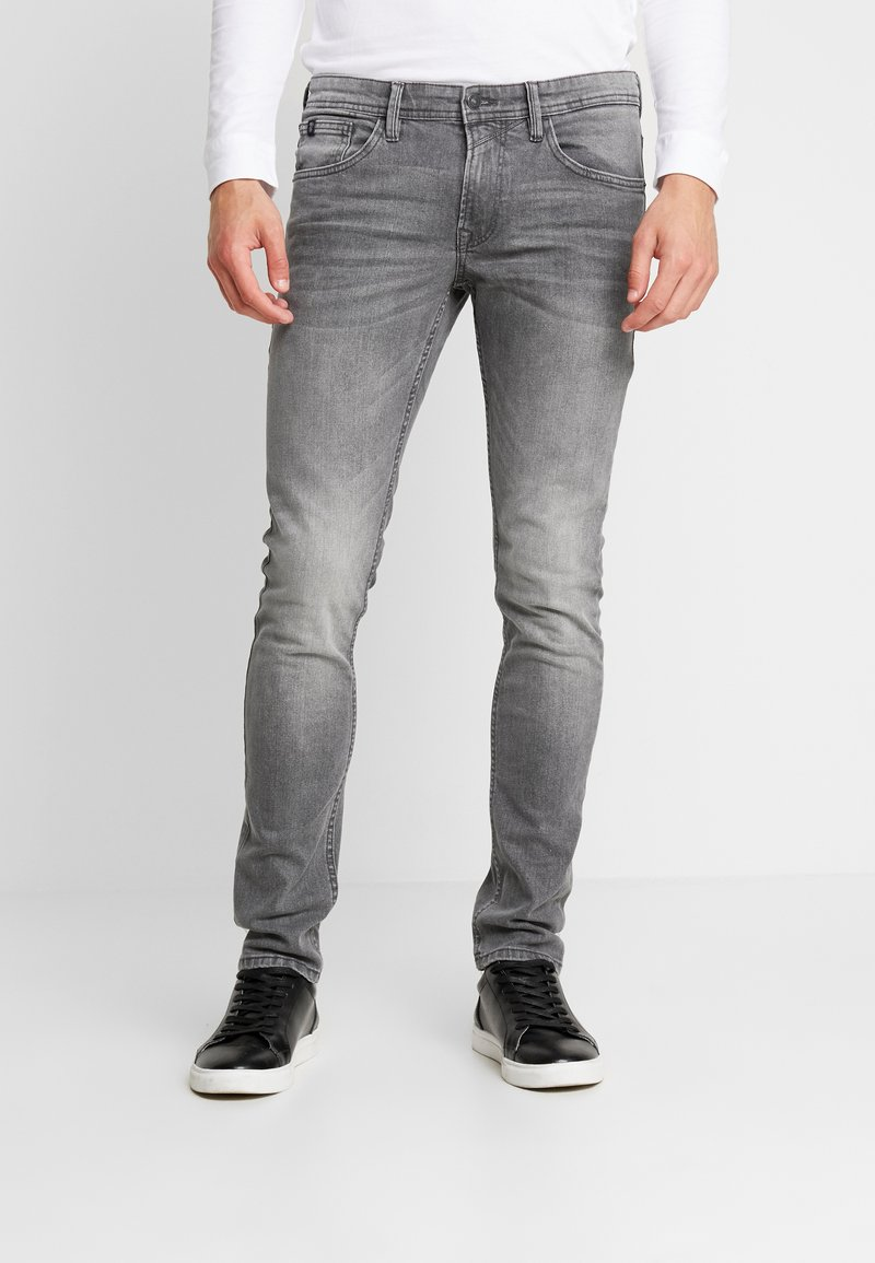 TOM TAILOR DENIM - CULVER PRICE STARTER - Jeans Skinny Fit - used mid stone grey