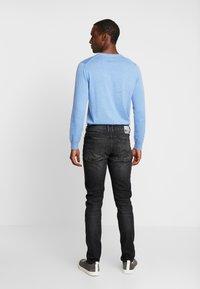 TOM TAILOR DENIM - PIERS STRETCH - Jeans slim fit - dark stone black denim - 2