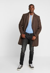 TOM TAILOR DENIM - PIERS STRETCH - Jeans slim fit - dark stone black denim - 1