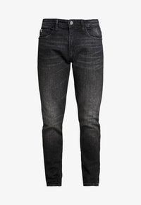 TOM TAILOR DENIM - PIERS STRETCH - Jeans slim fit - dark stone black denim - 3