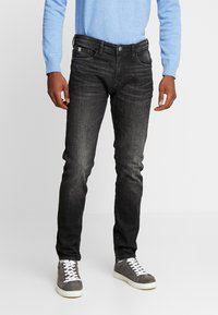 TOM TAILOR DENIM - PIERS STRETCH - Jeans slim fit - dark stone black denim - 0