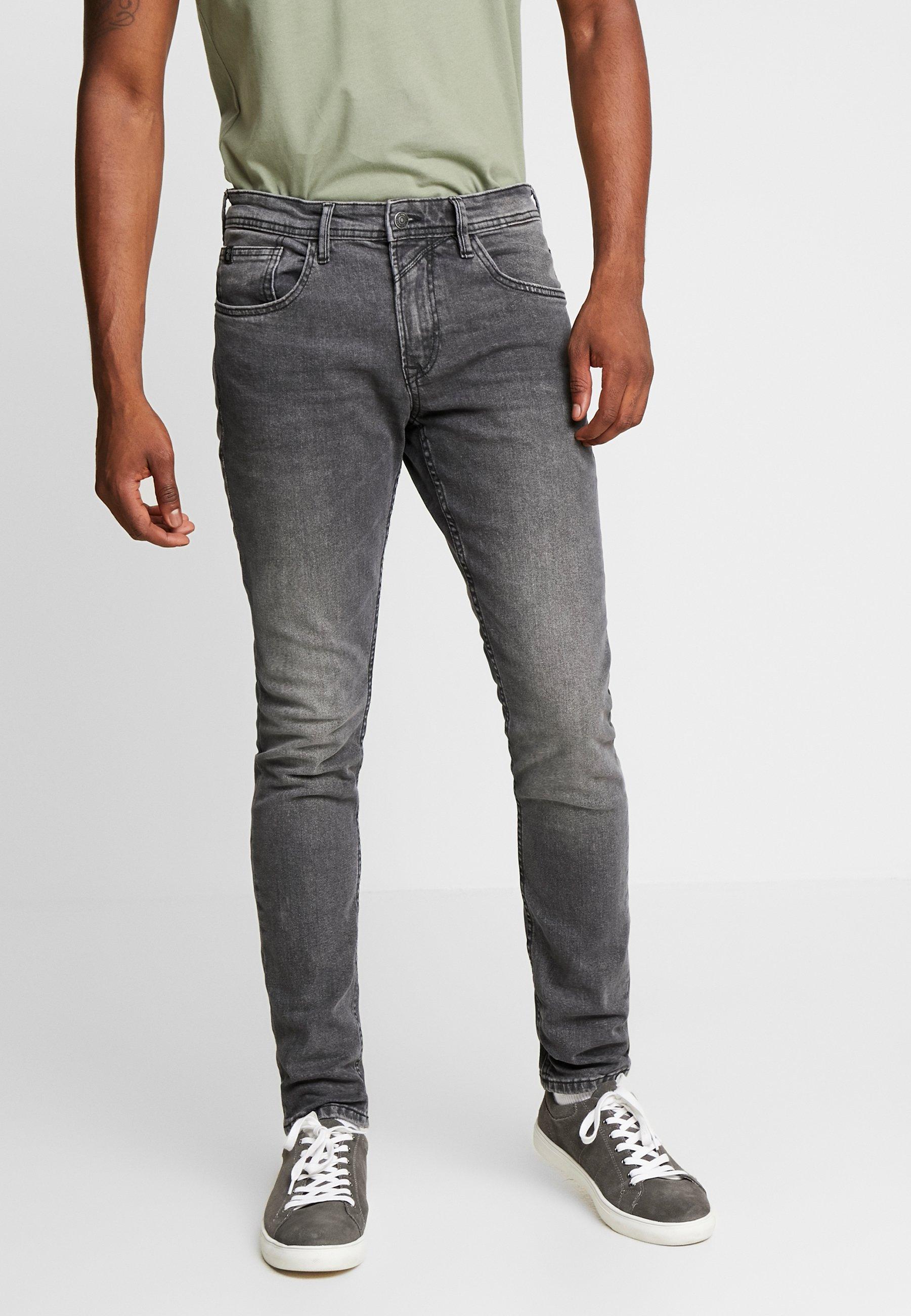TOM TAILOR DENIM CULVER STRETCH - Jeansy Skinny Fit - used mid stone black /denim grey