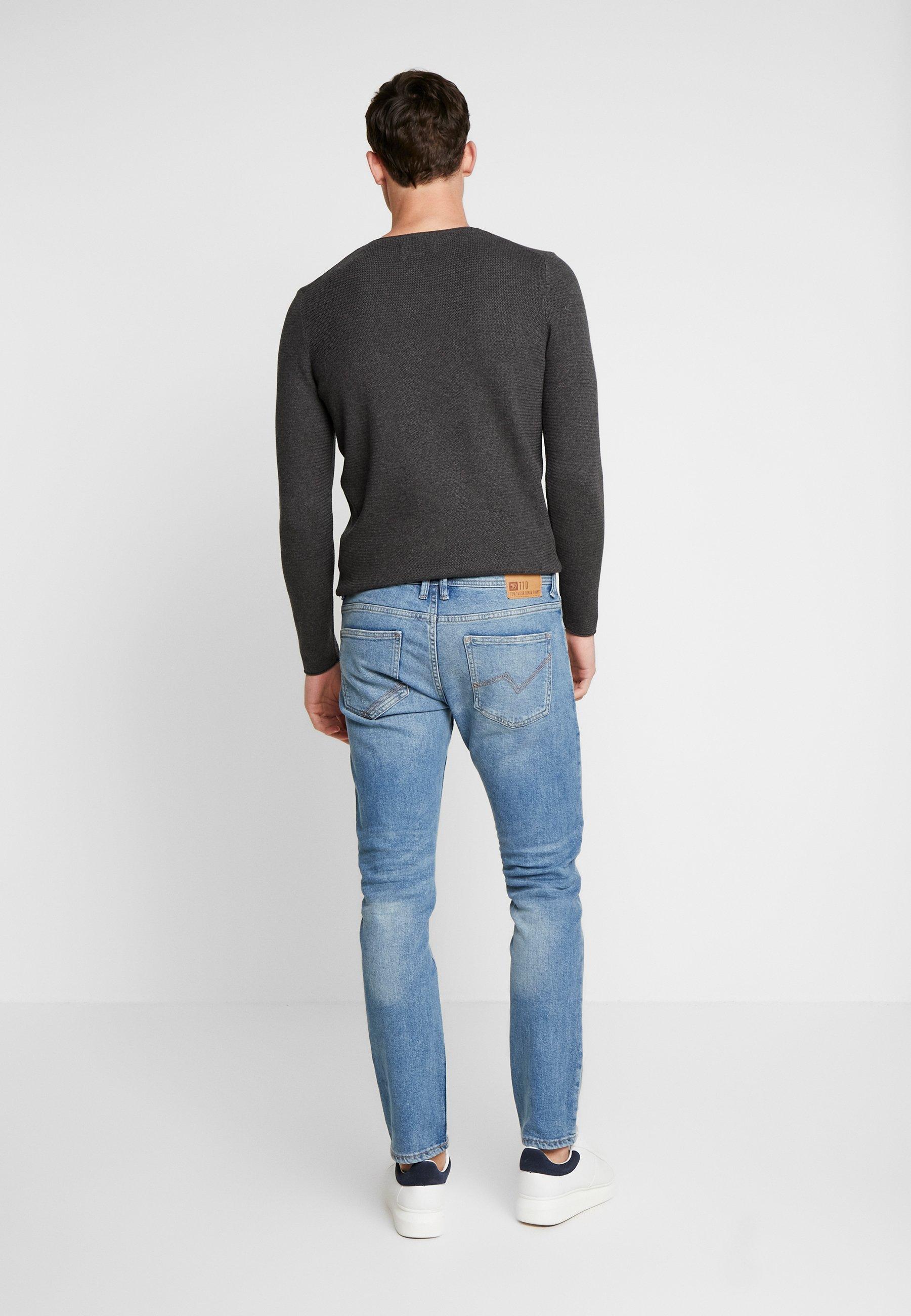 Tom Tailor Denim Slim Piers - Fit -farkut Bright Blue
