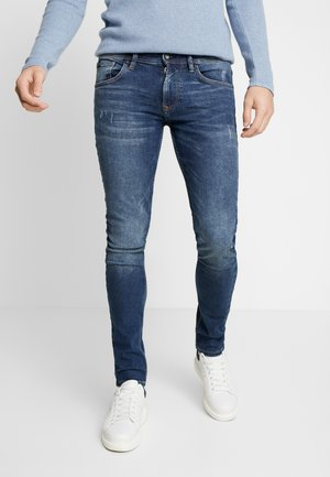 CULVER - Jeans Skinny - used dark stone blue denim