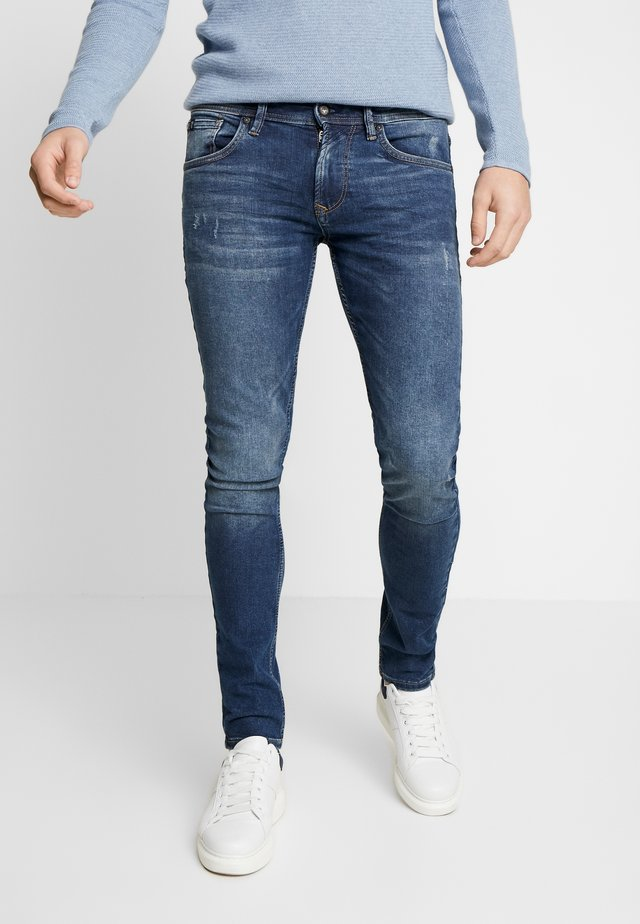 CULVER - Jeansy Skinny Fit - used dark stone blue denim