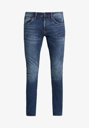 CULVER - Jeans Skinny - used dark stone blue denim