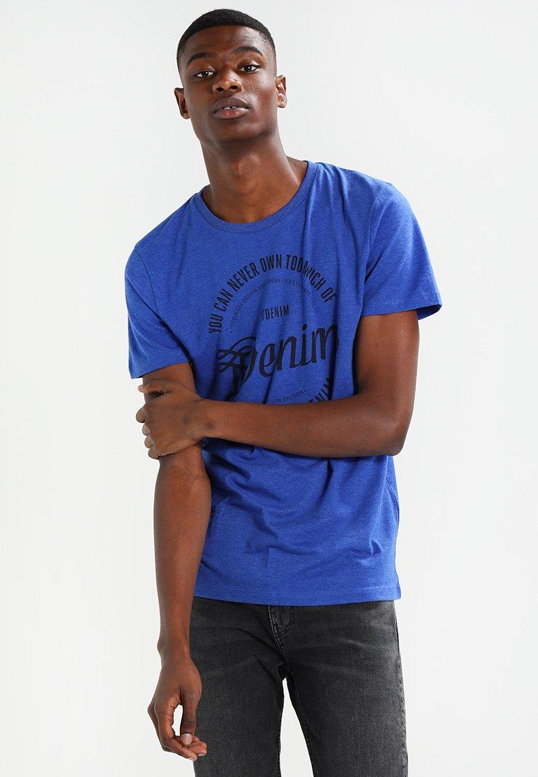 TOM TAILOR DENIM - TEE - Print T-shirt - violet blue