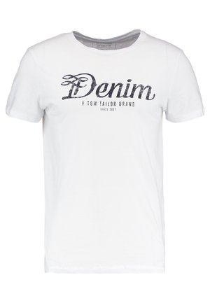 CREWNECK TEE - T-shirt z nadrukiem - white