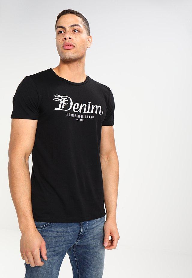 CREWNECK TEE - T-shirt med print - black