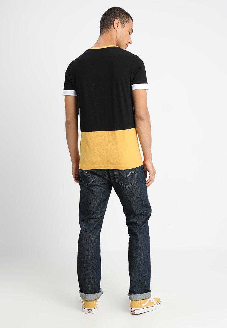 TOM TAILOR DENIM COLOURBLOCK CREW NECK - T-shirt imprimé mexican yellow