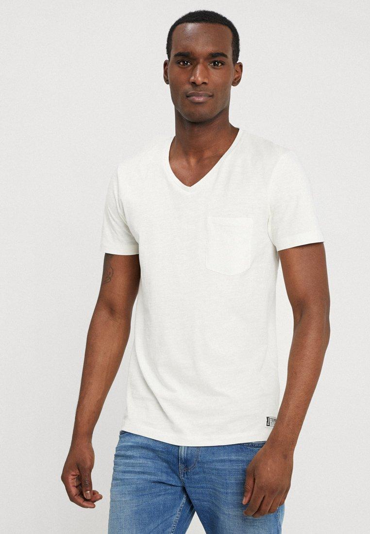 TOM TAILOR DENIM - T-Shirt basic - light marsmallow