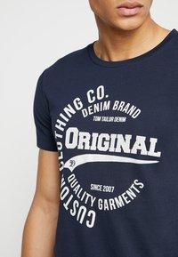 TOM TAILOR DENIM - T-Shirt print - sky captain blue - 4