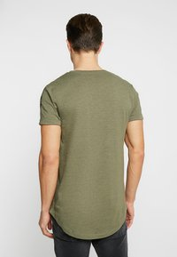 TOM TAILOR DENIM - Triko s potiskem - dusty olive green - 2