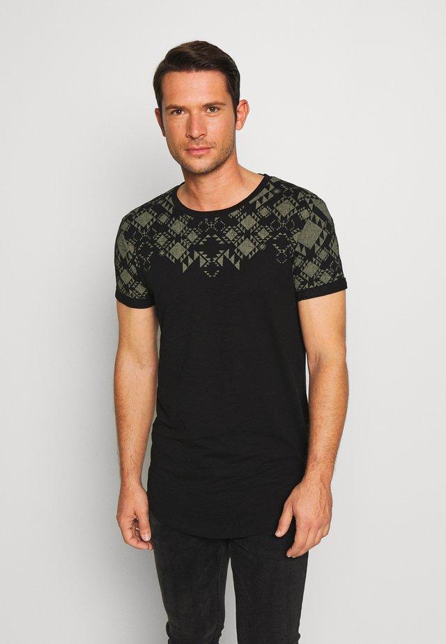 T-shirt con stampa - black/grey