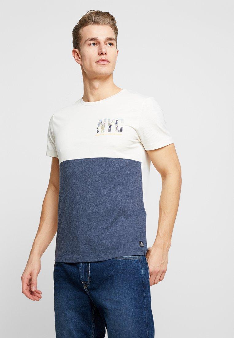 TOM TAILOR DENIM - T-Shirt print - vanilla/white