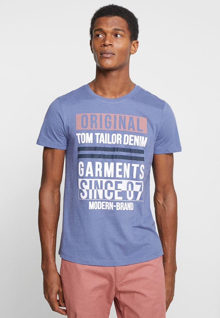 TOM TAILOR DENIM - T-Shirt print - coastal fjord blue