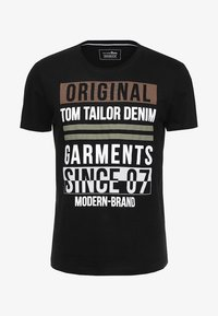 TOM TAILOR DENIM - T-shirt print - black - 3
