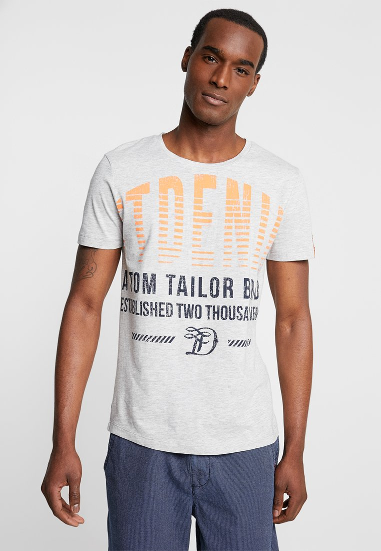 TOM TAILOR DENIM - WASHED - T-Shirt print - mediterranean grey melange