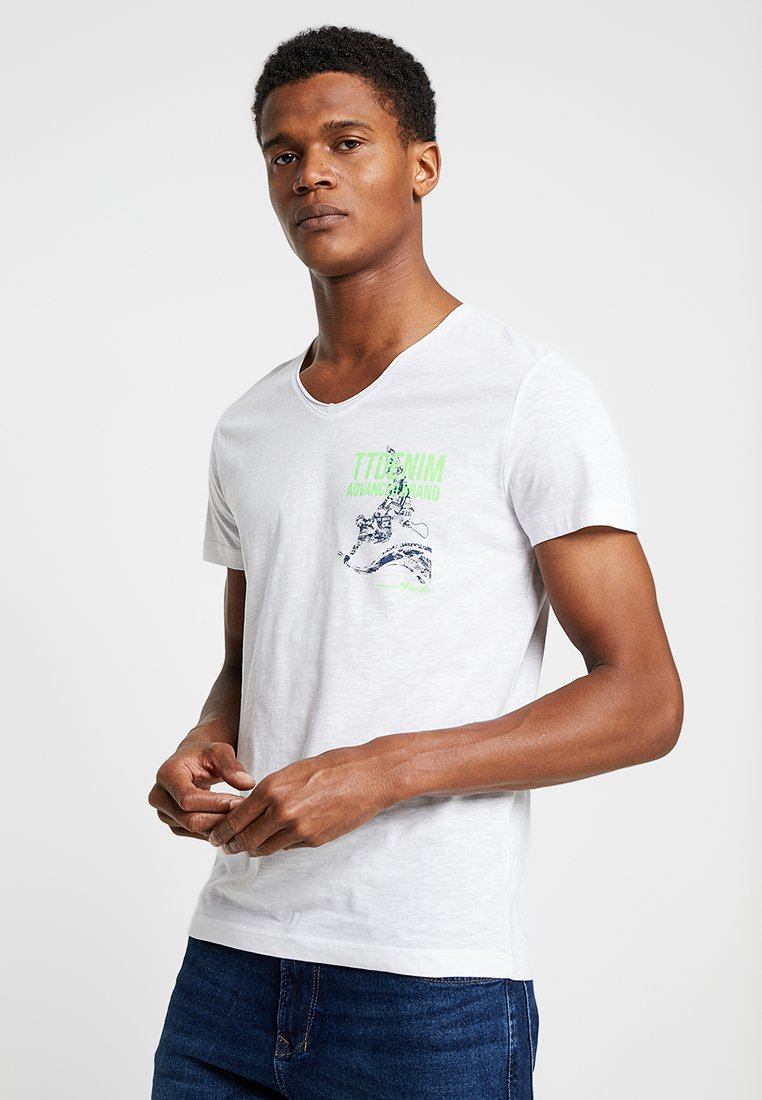 TOM TAILOR DENIM - Print T-shirt - white