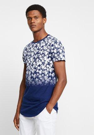 FADED ALLOVER - T-shirt imprimé - navy palm blue