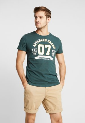 Print T-shirt - dark gable green