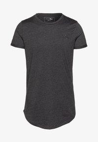 TOM TAILOR DENIM - LONG BASIC WITH LOGO - T-shirt basic - dark grey - 4
