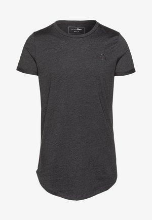 LONG BASIC WITH LOGO - Jednoduché triko - dark grey