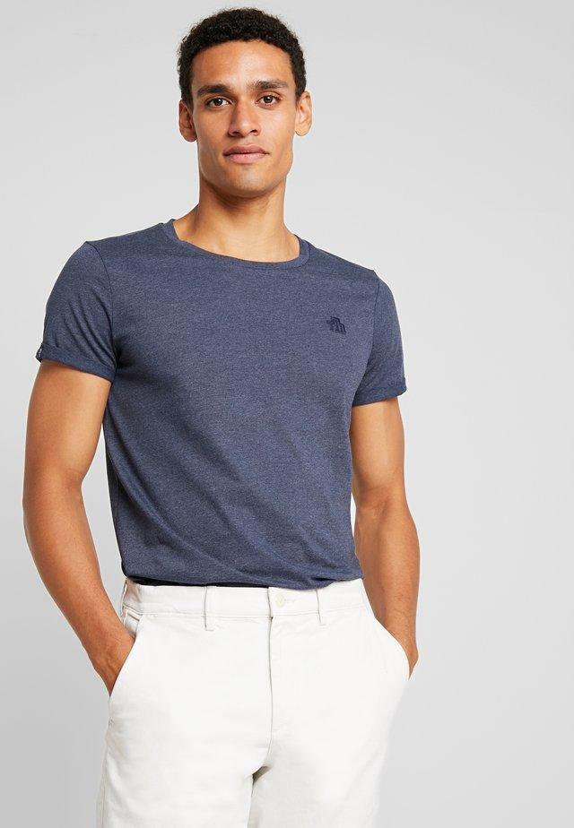 LONG BASIC WITH LOGO - Basic T-shirt - agate stone blue melange