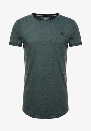 LONG BASIC WITH LOGO - Jednoduché triko - dark gable green melange