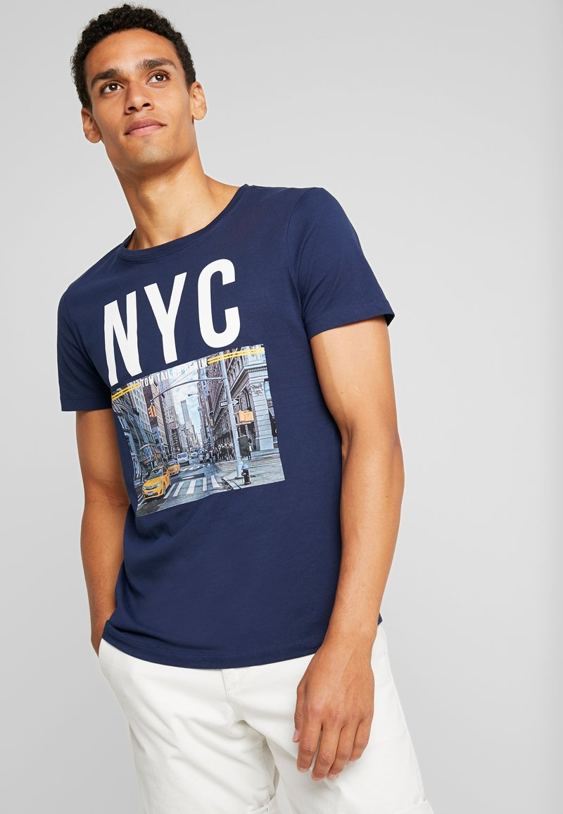 TOM TAILOR DENIM - FOTOPRINT - T-shirt imprimé - agate stone blue