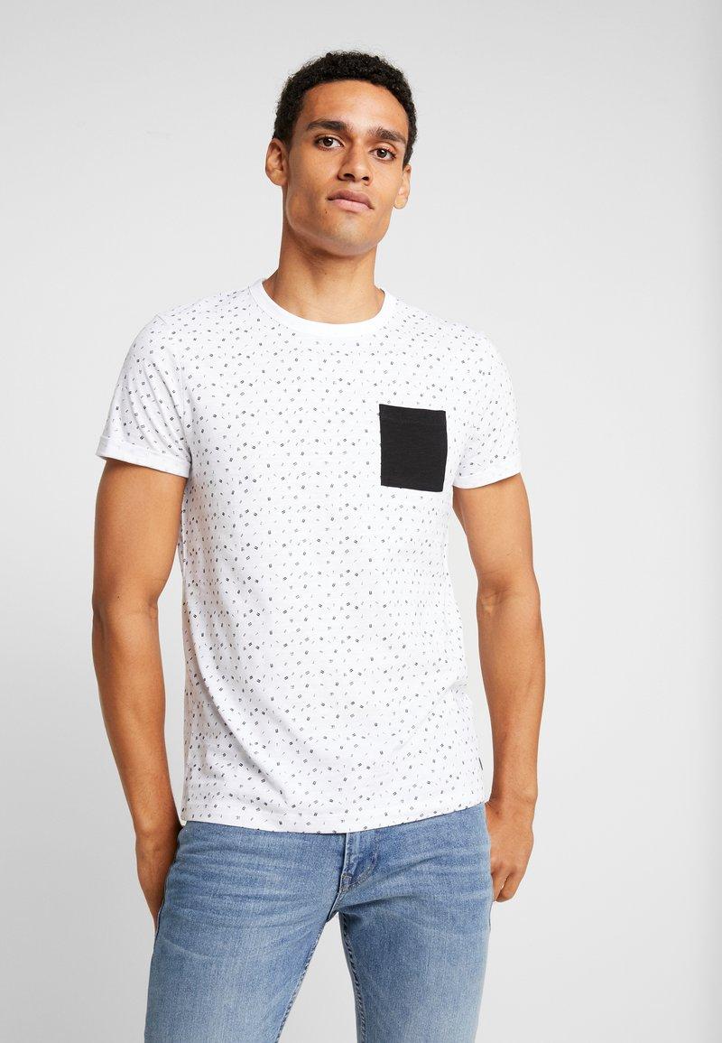 TOM TAILOR DENIM - ALLOVER - T-shirt print - white