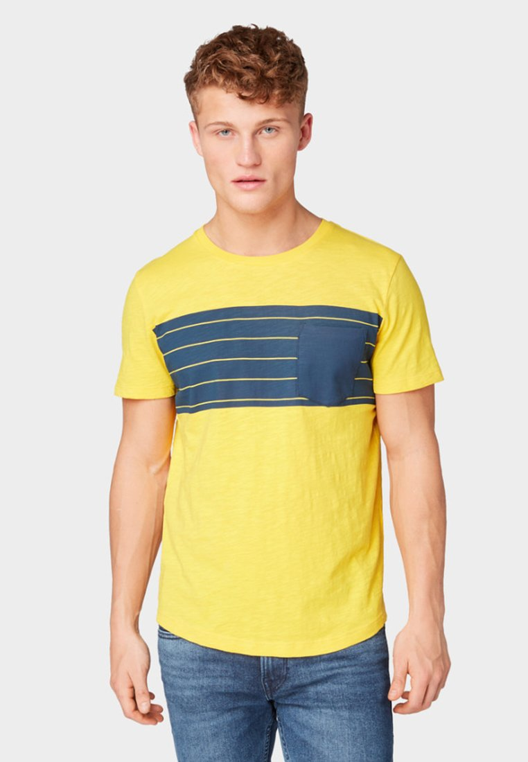 TOM TAILOR DENIM - Print T-shirt - vivid yellow