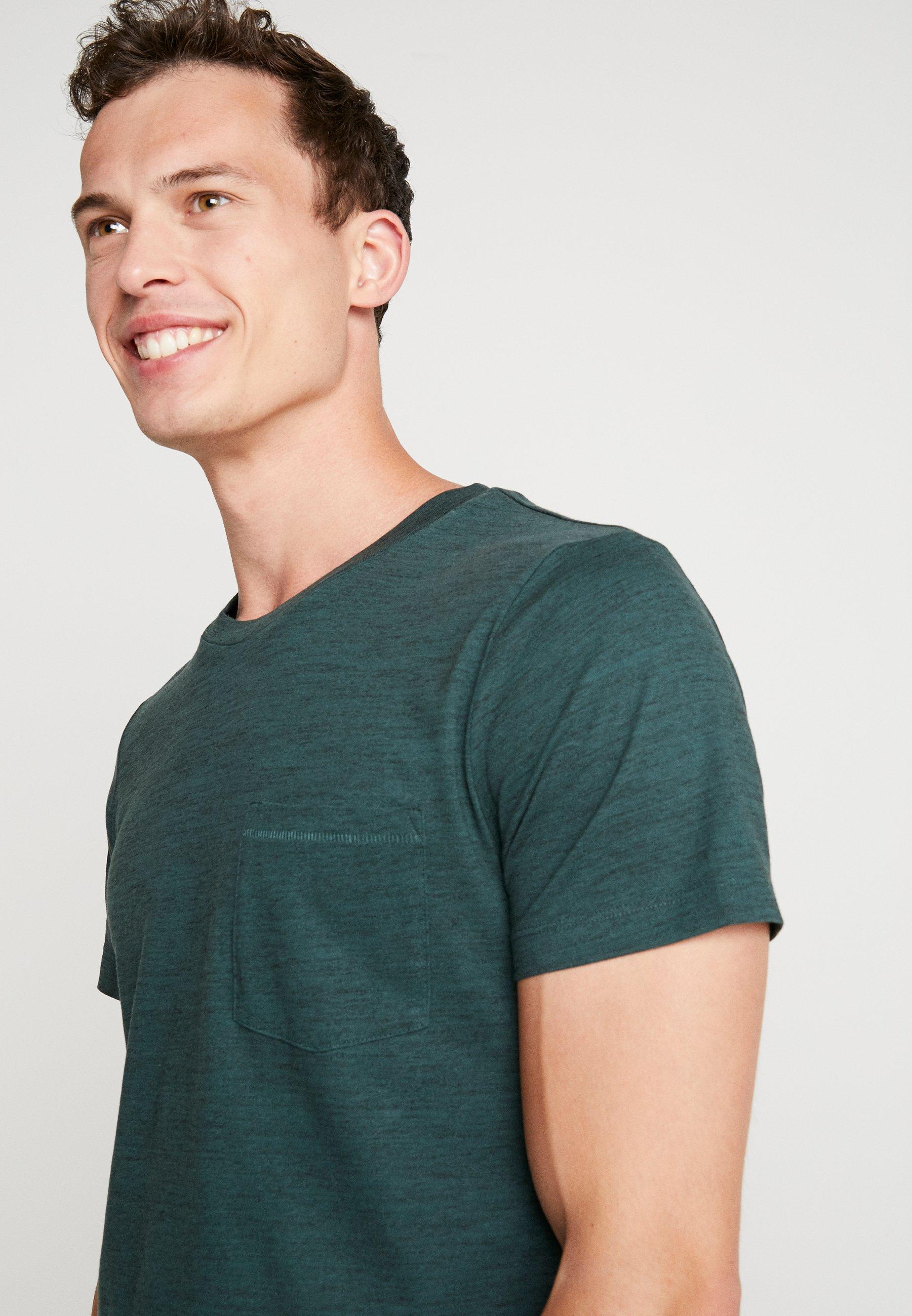NosT Tom shirt Tailor Green Basique Gable Denim Dark 45qRLAjc3