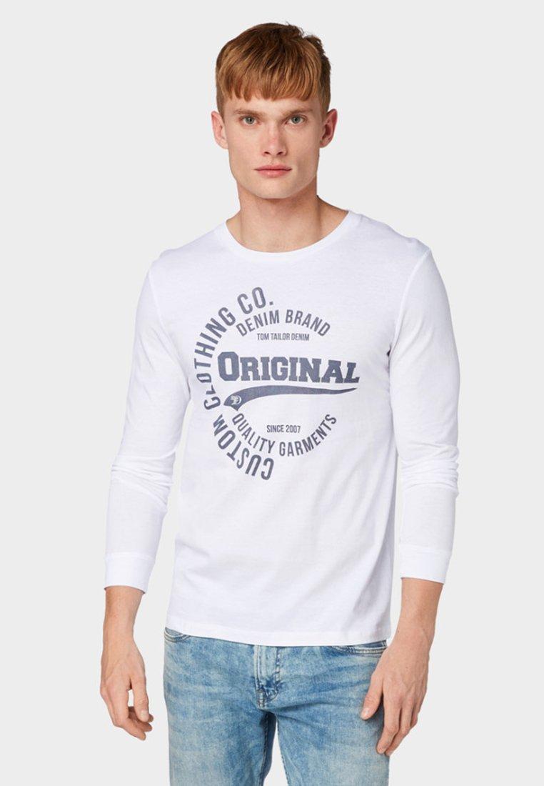 TOM TAILOR DENIM - Long sleeved top - white
