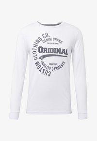 TOM TAILOR DENIM - Long sleeved top - white - 4