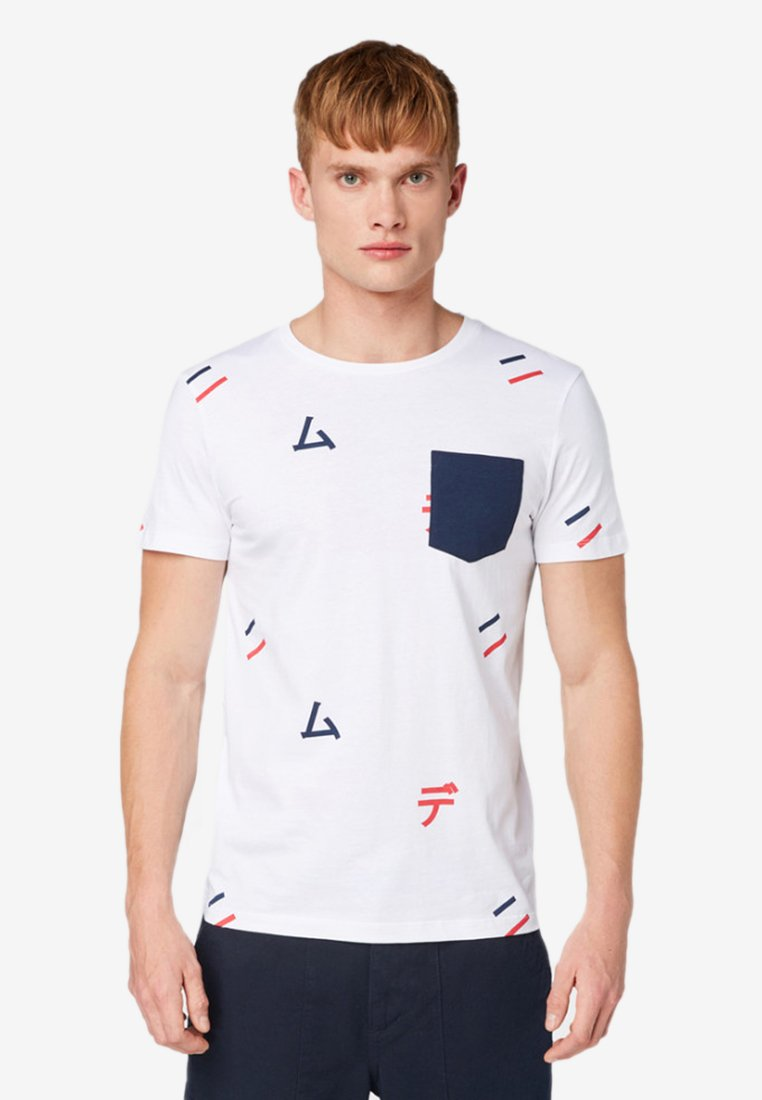 Denim Tailor T shirt ImpriméWhite Tom qSUGzMVp