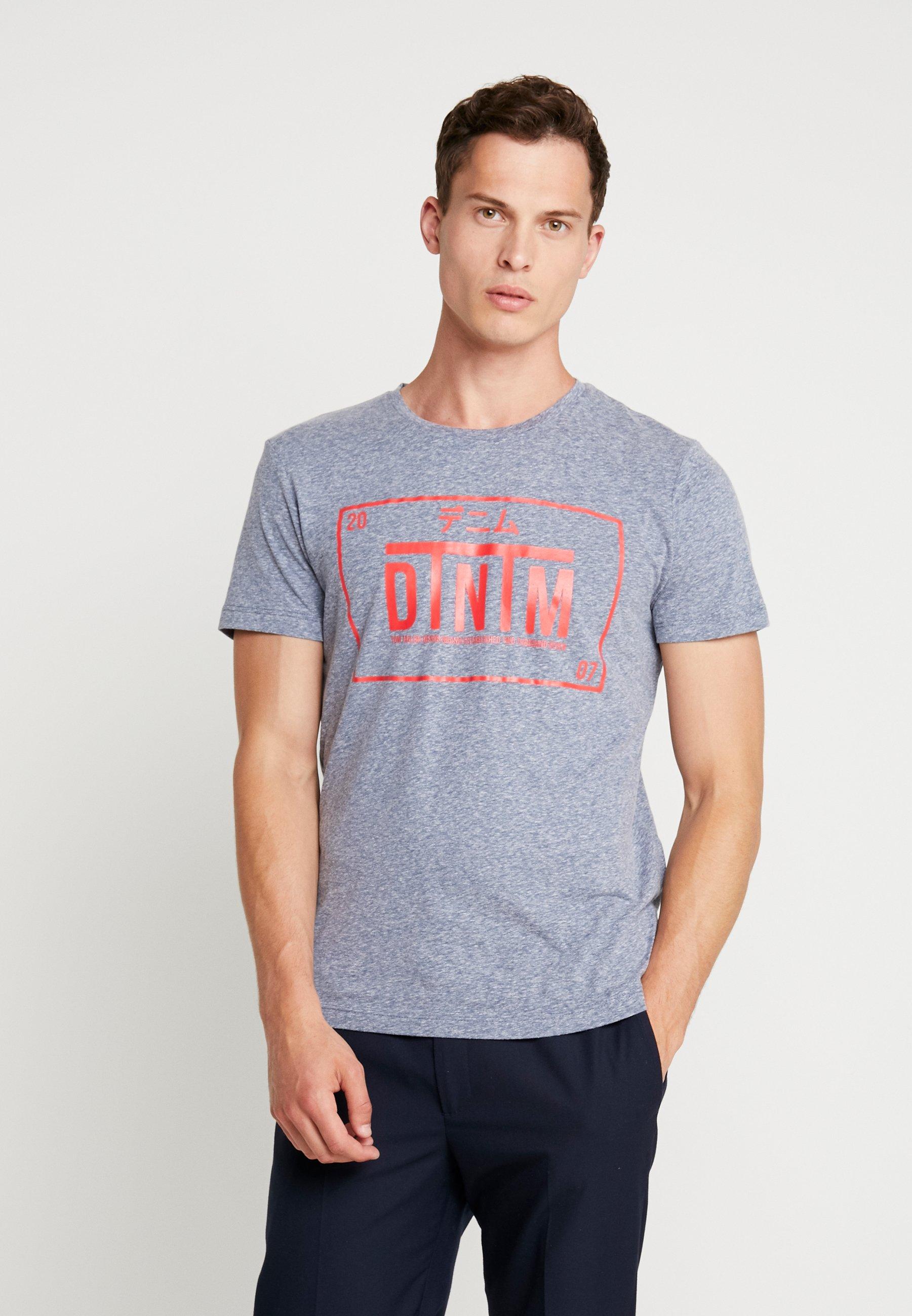 shirt T Stone Tom Denim ImpriméAgate Blue Melange Tailor EHeW2YbD9I